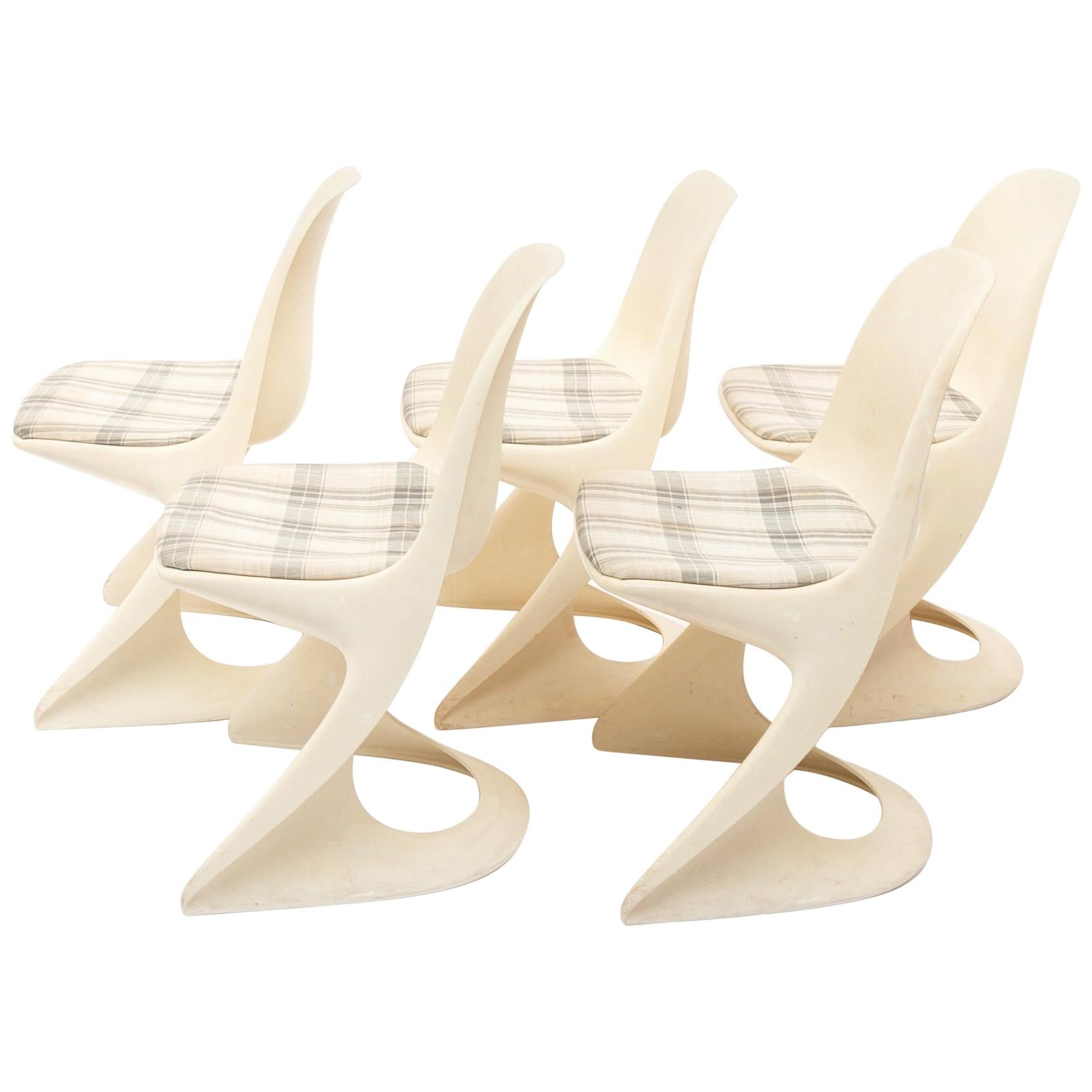 """Space Age """"Cantilever 290"""" Chairs by Steen Ostergaard, 1971"""