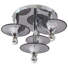 Space Age Ceiling Flushmount in Style of Reggiani 1970