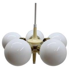 Space Age Chandelier Sputnik by Elektroinstala Decin, 1970s