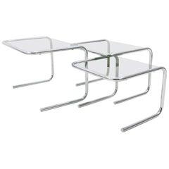 Bauhaus  Chrome Nesting Tables