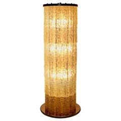 Space Age Chromed Metal Plexiglass Vintage Floor Lamp, 1960s, France
