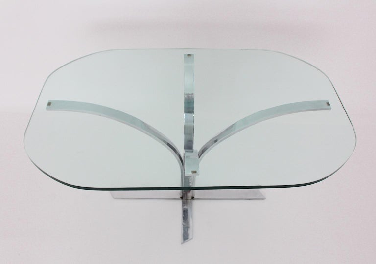 Space Age Chromed Metal Vintage Dining Table or Writing Table, 1960s, Germany For Sale 1