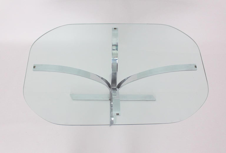 Space Age Chromed Metal Vintage Dining Table or Writing Table, 1960s, Germany For Sale 2