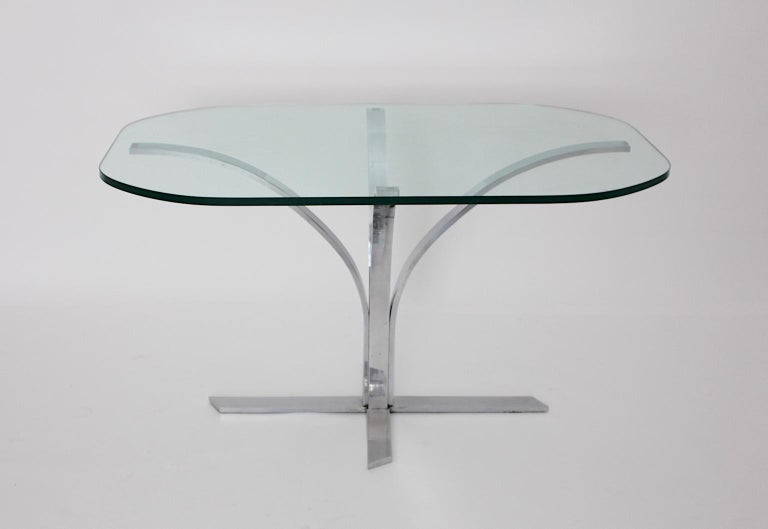 Space Age Chromed Metal Vintage Dining Table or Writing Table, 1960s, Germany For Sale 3