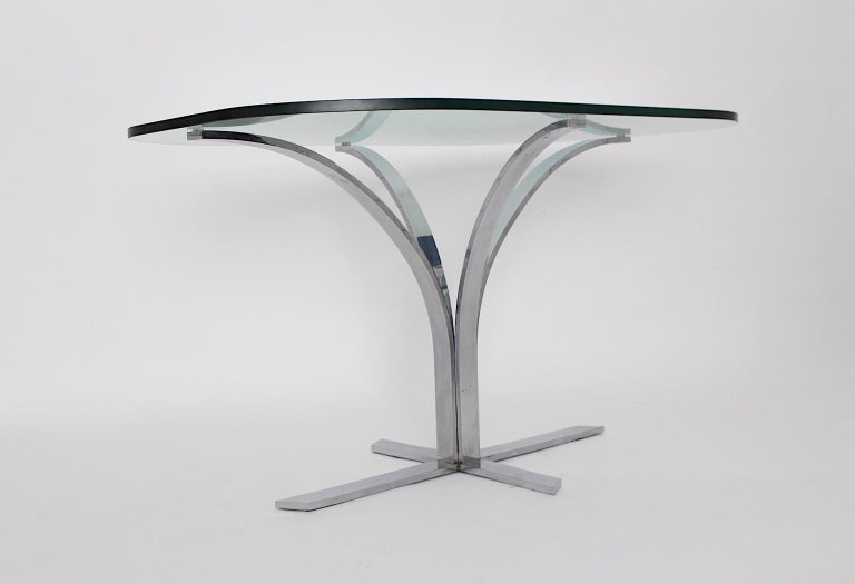 Space Age Chromed Metal Vintage Dining Table or Writing Table, 1960s, Germany For Sale 5