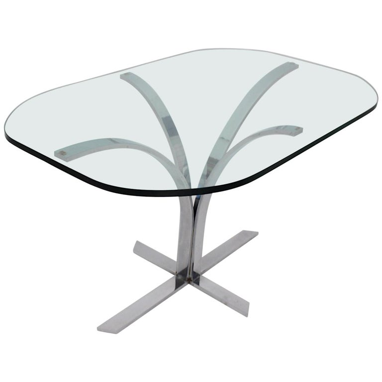 Space Age Chromed Metal Vintage Dining Table or Writing Table, 1960s, Germany For Sale
