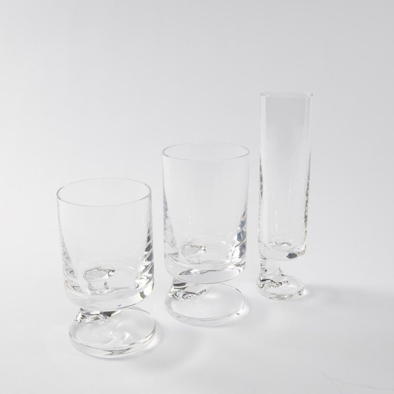 Space Age Crystal Seventies Drinking Glasses by Italian Designer Joe Colombo In Good Condition For Sale In Brussels, BE
