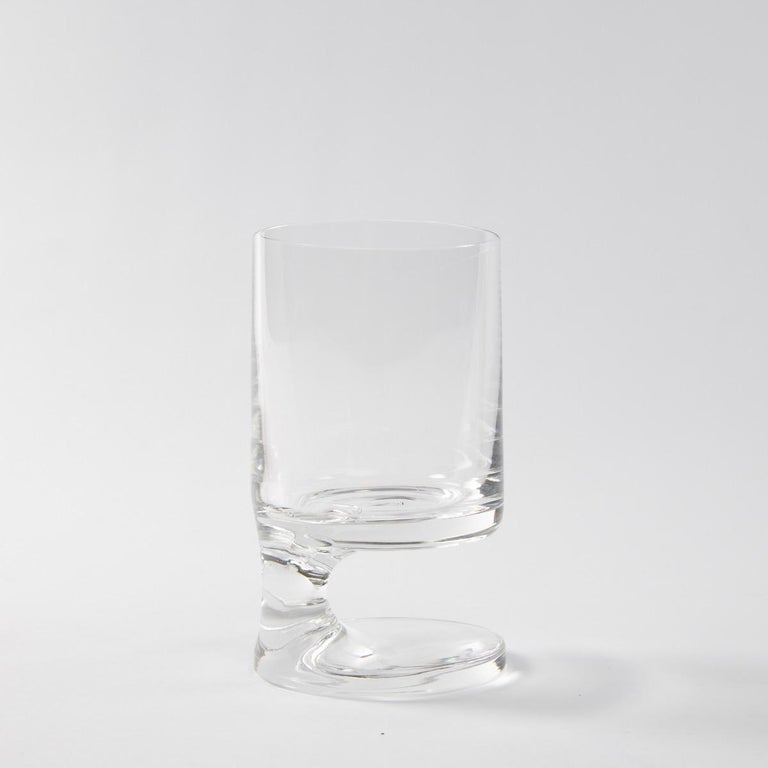 Mid-20th Century Space Age Crystal Seventies Drinking Glasses by Italian Designer Joe Colombo For Sale