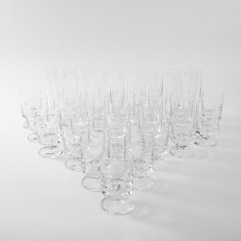 Space Age Crystal Seventies Drinking Glasses by Italian Designer Joe Colombo For Sale 2