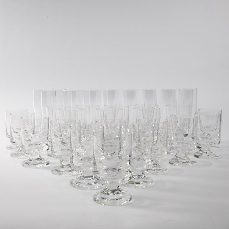 Space Age Crystal Seventies Drinking Glasses by Italian Designer Joe Colombo For Sale 3