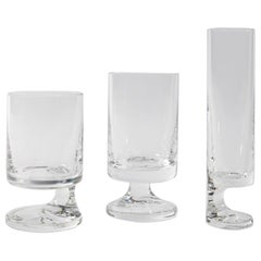 Space Age Crystal Seventies Drinking Glasses by Italian Designer Joe Colombo