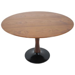 1970s Teak Round Dining table , Czechoslovakia