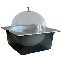 Space Age Dome Lid Smoke Lucite Ice Bucket