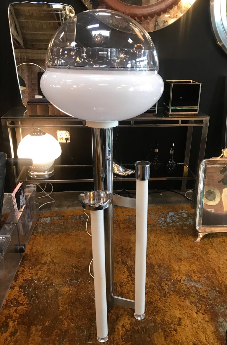 Space Age floor lamp with ashtray , Italy 1960s.