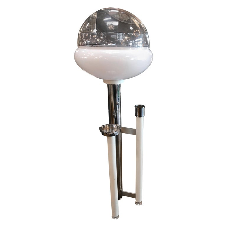 Space Age Floor Lamp with Ashtray, Italy, 1960s For Sale