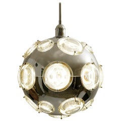 Space Age Globe Hanging Lamp Design by Oscar Torlasco for Stilkronen, 1960s