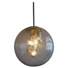 Space Age Golden & Chromed Sputnik Pendant Lamp from Doria Leuchten, 1970s