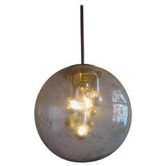 Space Age Golden & Chromed Sputnik Pendant Lamp from Doria Leuchten, 1970s