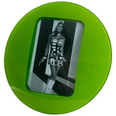 Space Age Green Glass Picture Frame