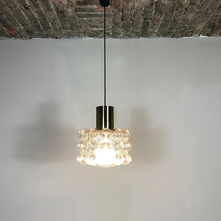 20th Century Space Age Helena Tynell Glashütte Limburg Bubble Pendant Light, 1960s, Germany For Sale