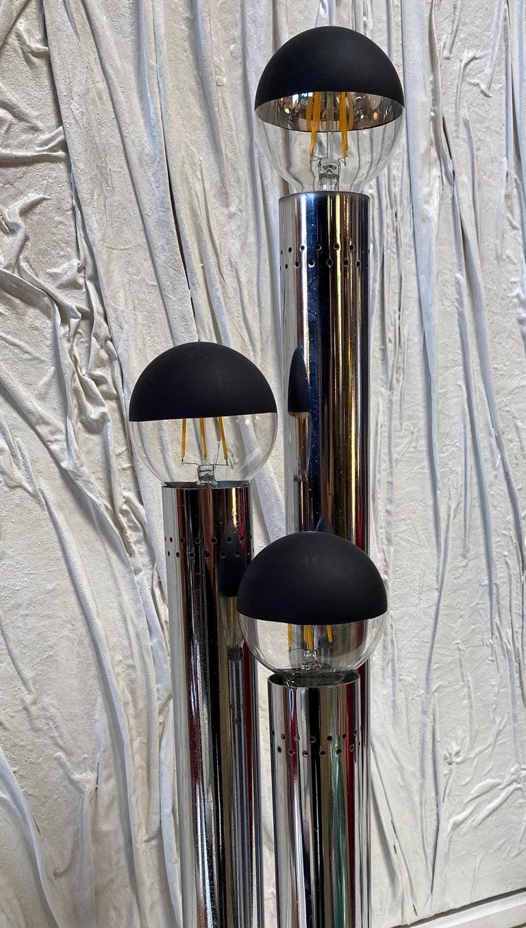 Mid-Century Modern Space Age Lamp, Italy, Reggiani Illuminazione, 1970s For Sale