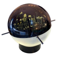 Space Age Lucite and Metal Sculpture Lamp by Gaetano Missaglia, Italy, 1970s