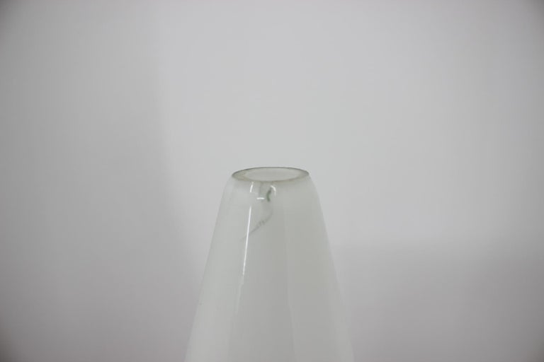 Glass Space Age Midcentury Table Lamp