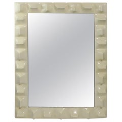 Space Age Mirror Attributed to Raymond Loewy