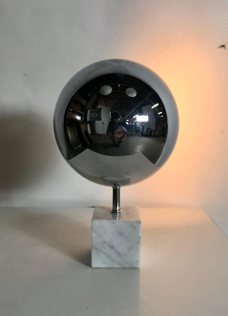 Mid-20th Century Space Age, Modernist Chrome and Marble