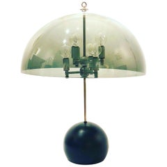 Space Age Mushroom Table Lamp with Smoke Lucite Shade