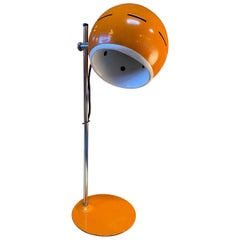 Space Age Orange Table Lamp, Italy, 1960s
