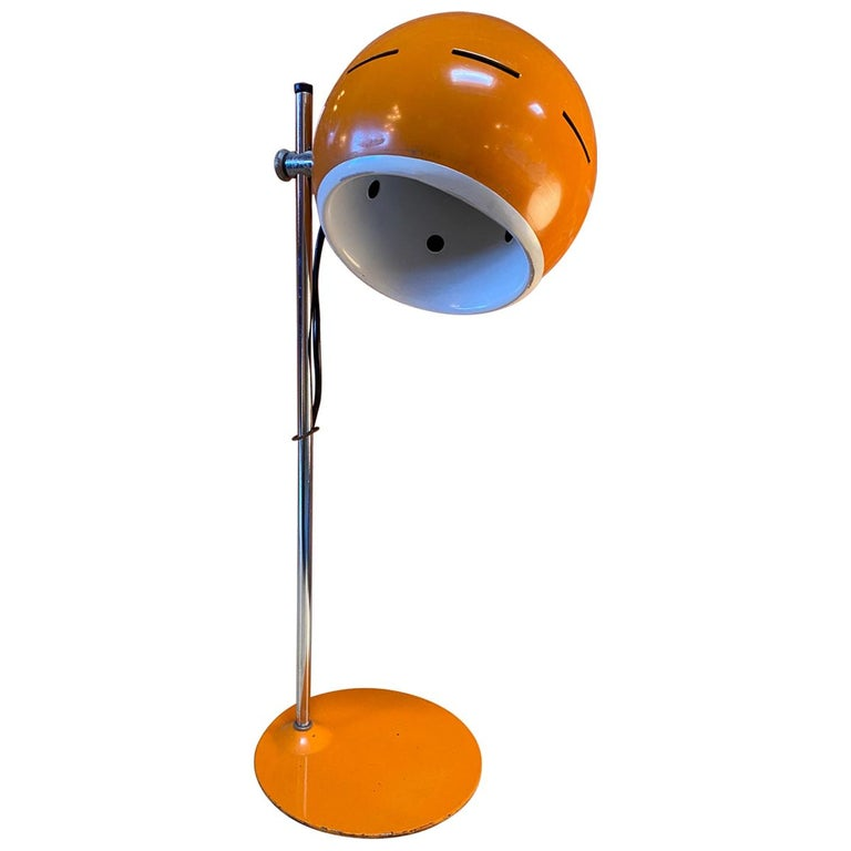 Space Age Orange Table Lamp, Italy, 1960s For Sale