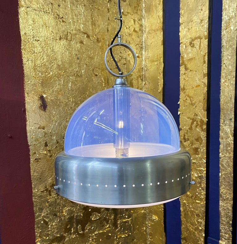 Space Age Pendant Light in Murano Glass, Italy, 1960s For Sale 5