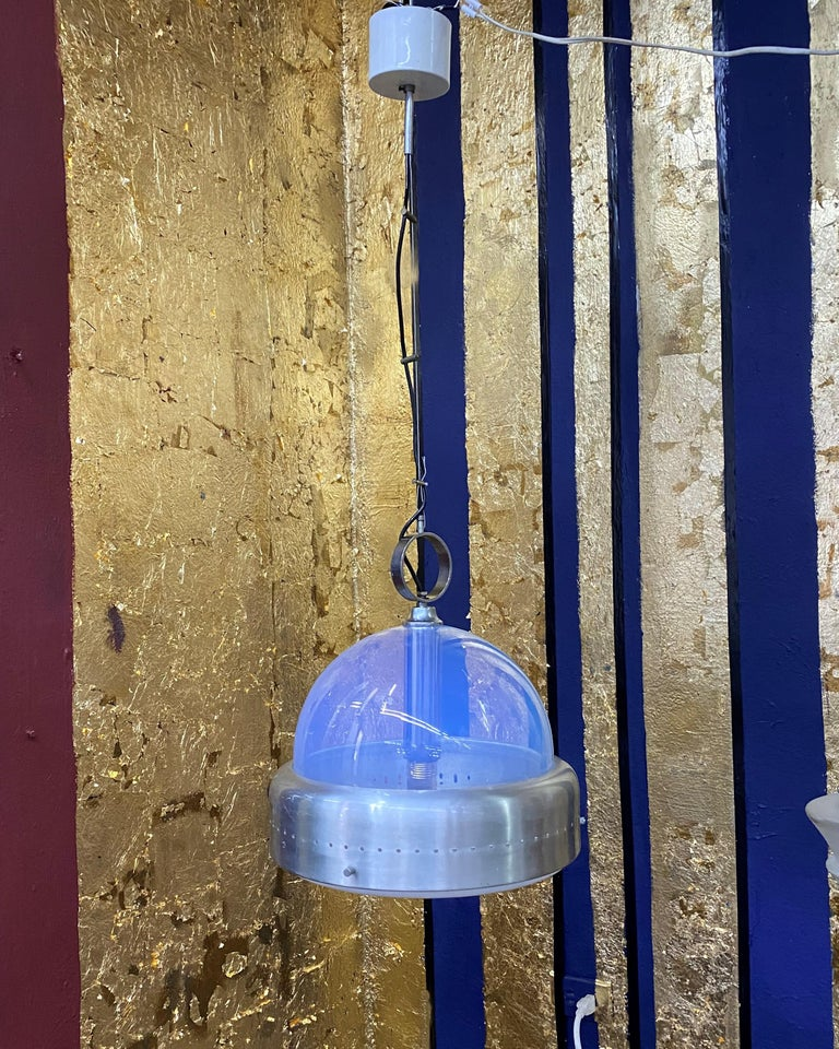 Space Age Pendant Light in Murano Glass, Italy, 1960s For Sale 7