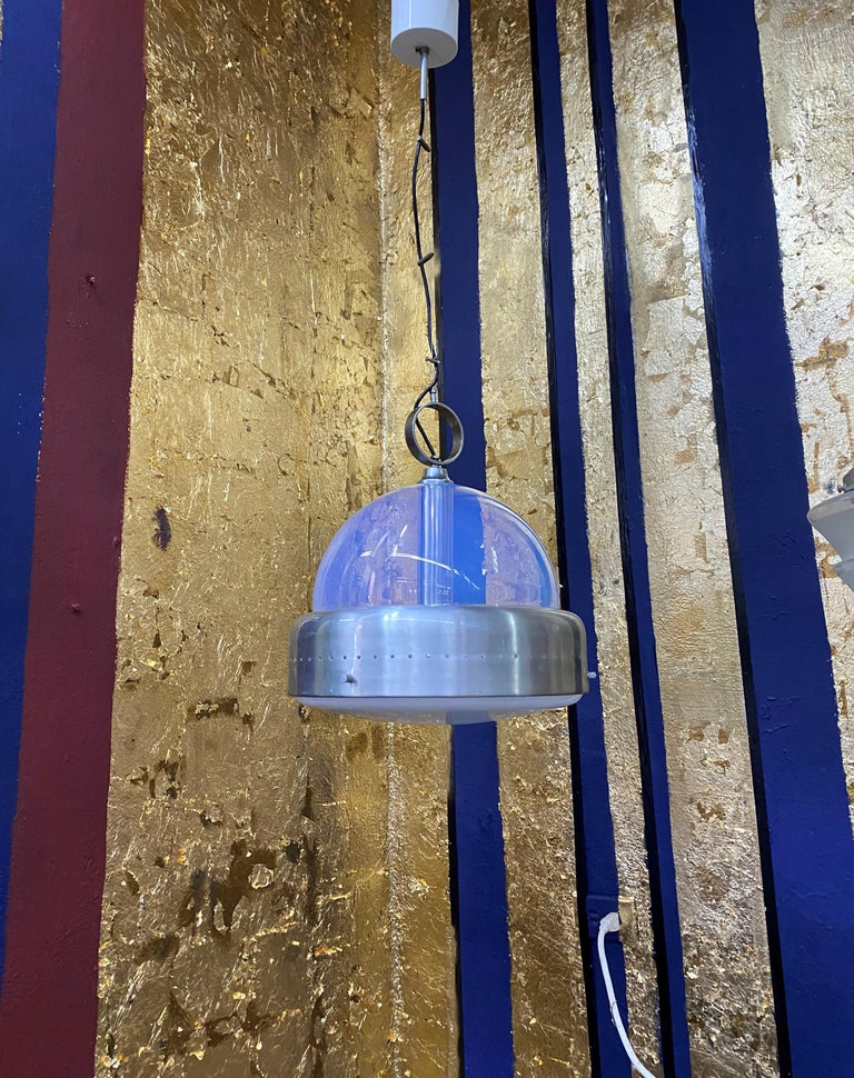 Space Age Pendant Light in Murano Glass, Italy, 1960s For Sale 9