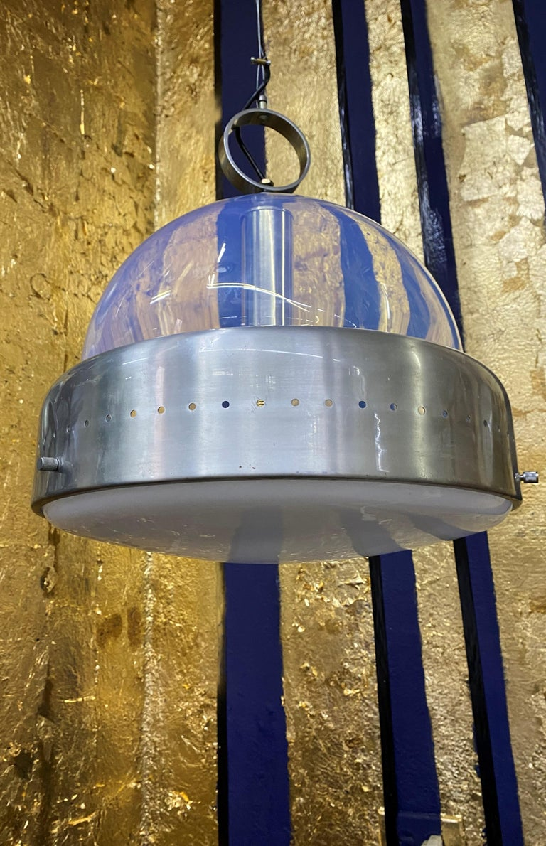 Space Age Pendant Light in Murano Glass, Italy, 1960s For Sale 13