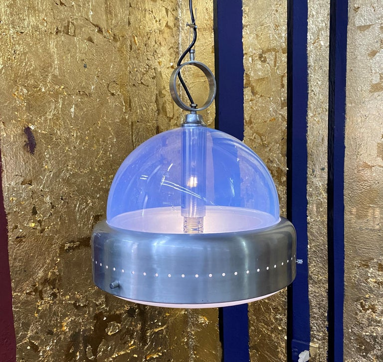 Italian Space Age Pendant Light in Murano Glass, Italy, 1960s For Sale