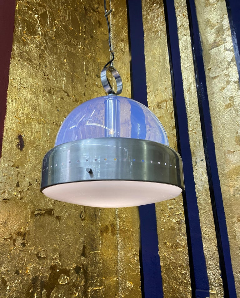 Space Age Pendant Light in Murano Glass, Italy, 1960s For Sale 2