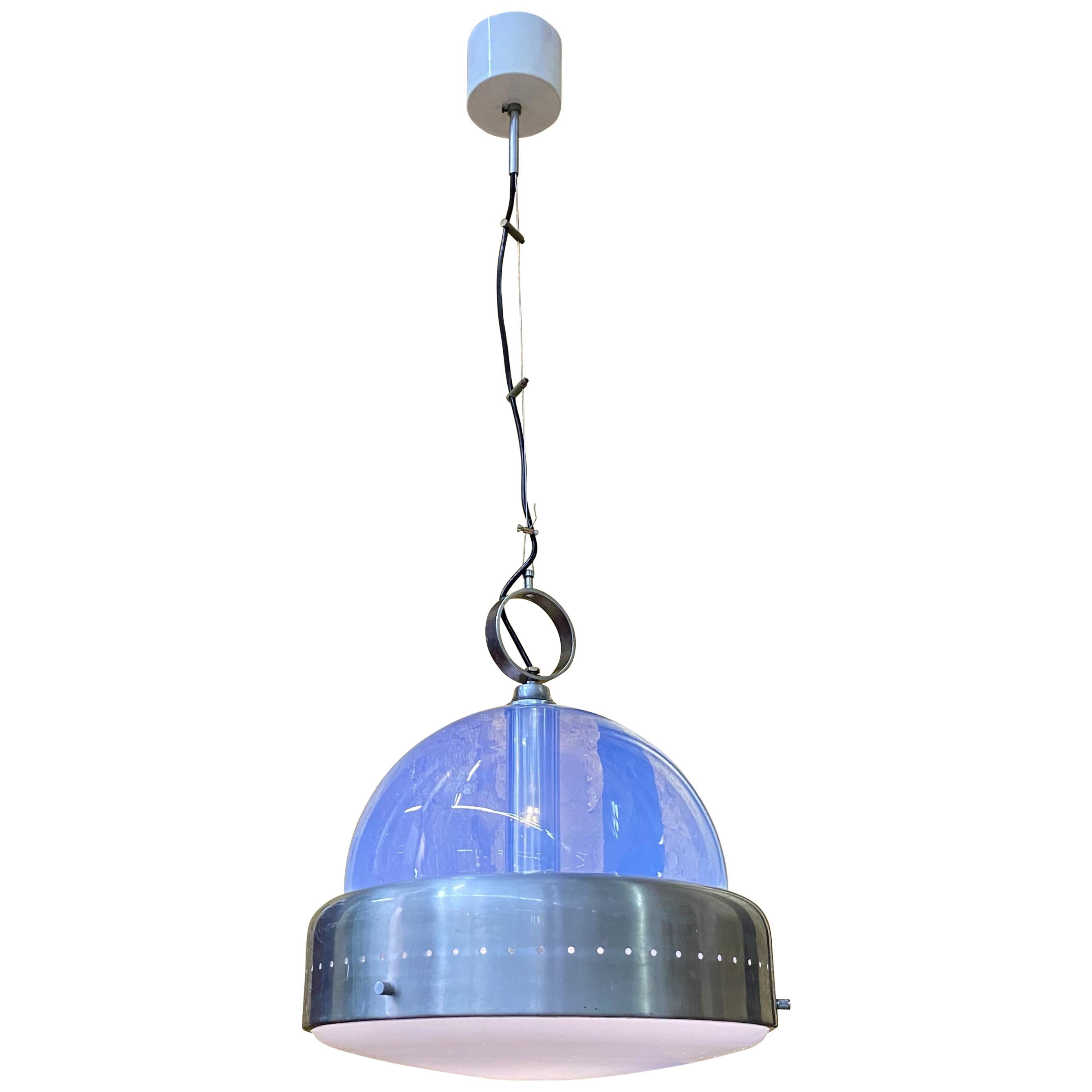 Space Age Pendant Light in Murano Glass, Italy, 1960s