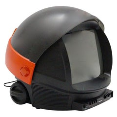 Space Age Red Black Vintage Plastic Television Discoverer by Philips Netherlands