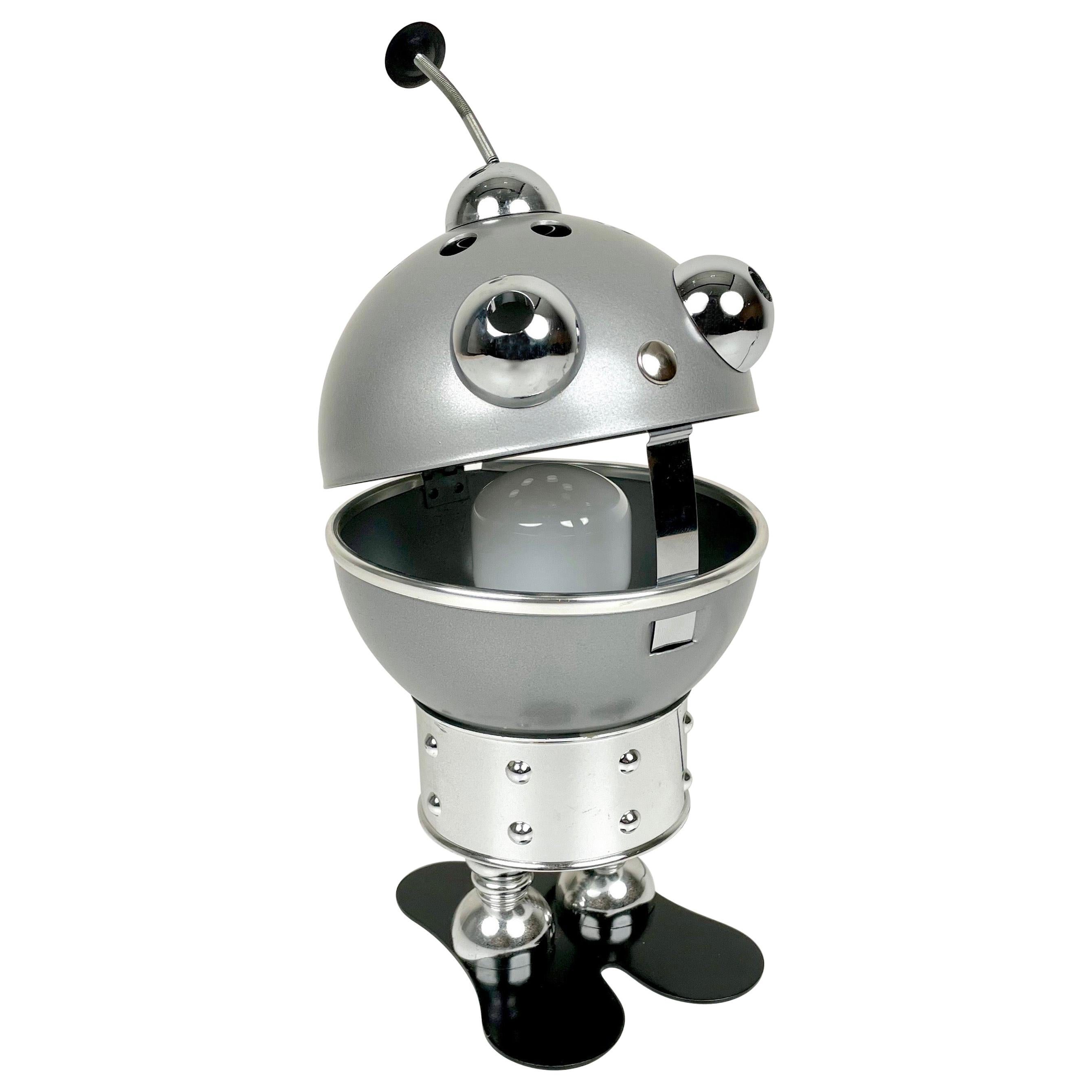 Space Age Robot Aluminum Table Lamp, 1970s