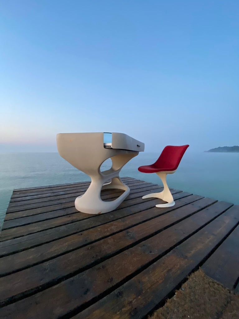 Space Age Set of Two Dinning or Easy Chairs Made in Spain, 1970s For Sale 4