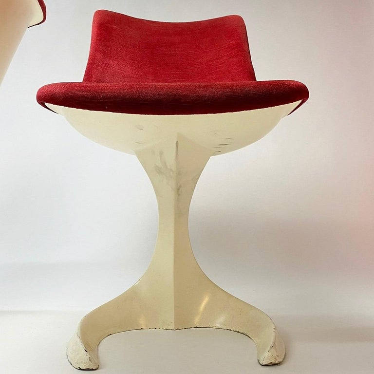 Space Age Set of Two Dinning or Easy Chairs Made in Spain, 1970s For Sale 5