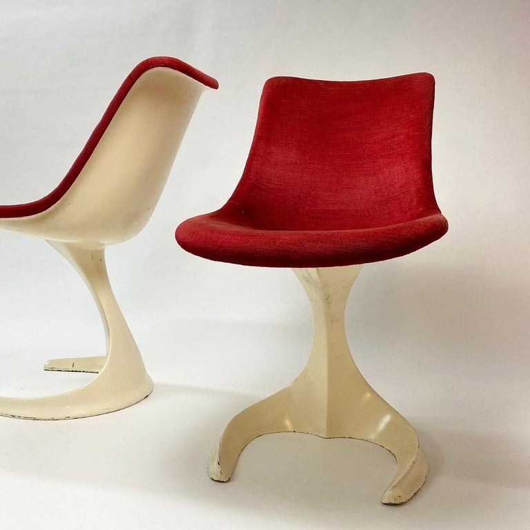 Space Age Set of Two Dinning or Easy Chairs Made in Spain, 1970s In Good Condition For Sale In Haderslev, DK