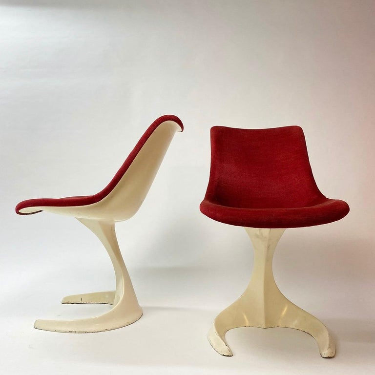 Aluminum Space Age Set of Two Dinning or Easy Chairs Made in Spain, 1970s For Sale