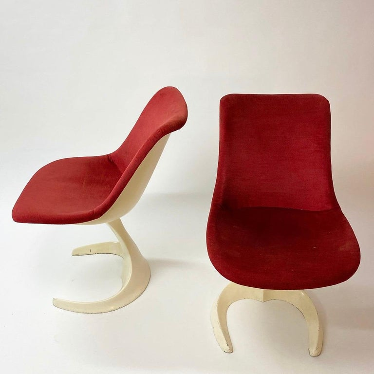 Space Age Set of Two Dinning or Easy Chairs Made in Spain, 1970s For Sale 1