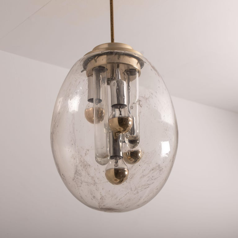 Space Age Sputnik Pedant Lamp by Doria, Germany, 1970s For Sale 7