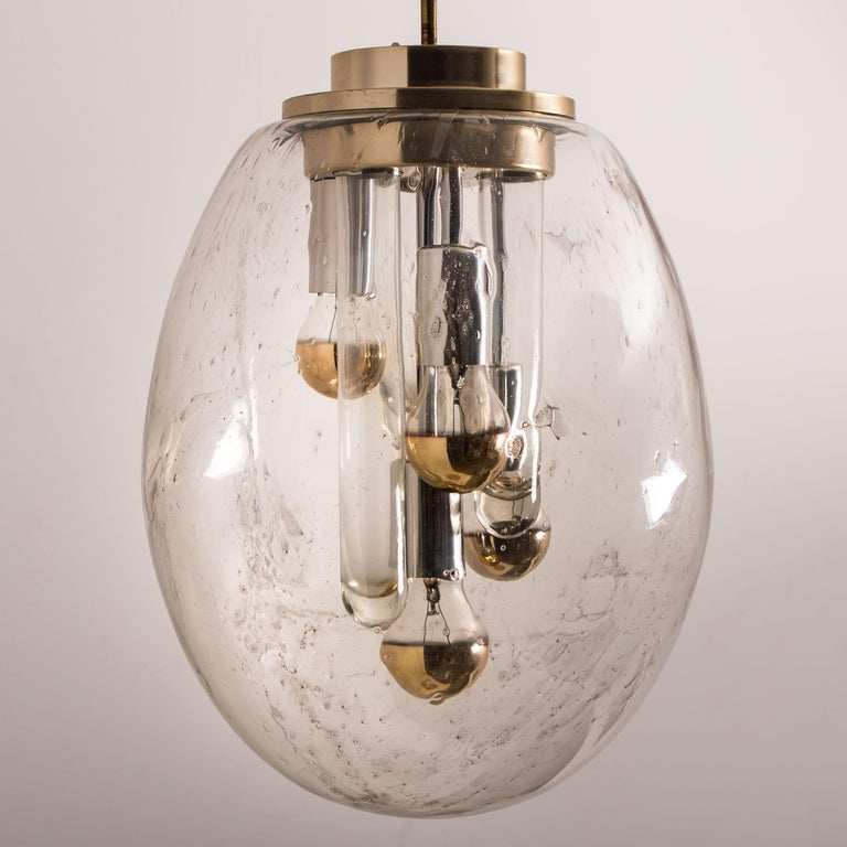 Space Age Sputnik Pedant Lamp by Doria, Germany, 1970s In Good Condition For Sale In Rijssen, NL