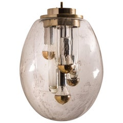 Space Age Sputnik Pedant Lamp by Doria, Germany, 1970s