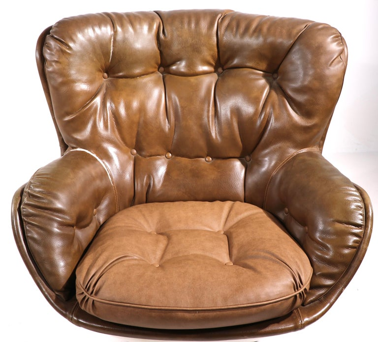 American Space Age Swivel Chair by Charlton after Baughman